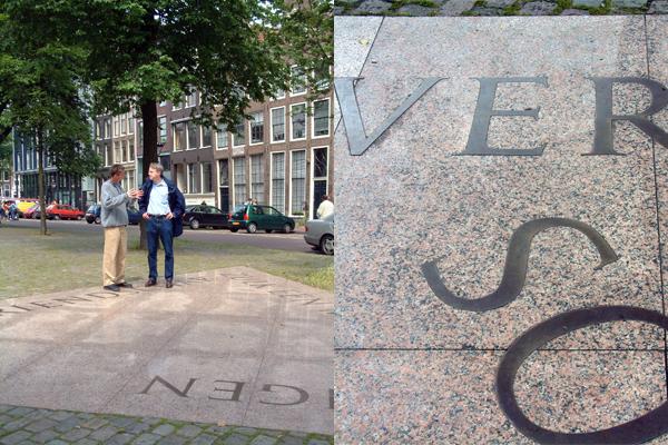 Lettering of Homomonument Amsterdam by Frank E. Blokland