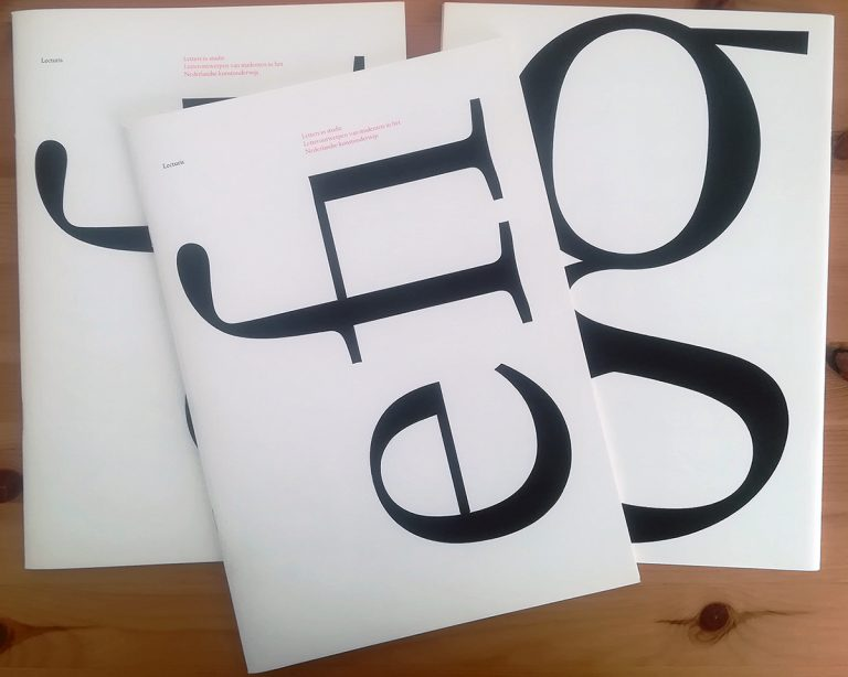 Letters designed by Frank E. Blokland as KABK student on the cover of Lecturis 1983